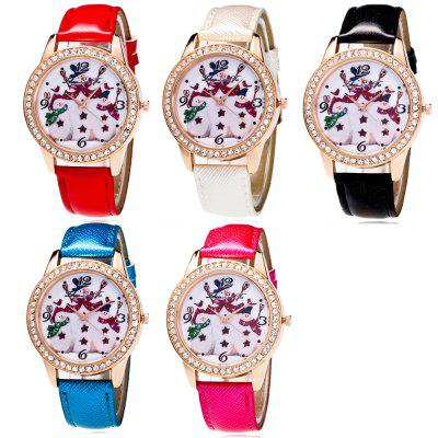 ZhouLianFa Fashionable WomenS Watch Crystal Grain Strap Snowman Pattern Simple Diamond Watch with Gift BoxWomens Watches<br>ZhouLianFa Fashionable WomenS Watch Crystal Grain Strap Snowman Pattern Simple Diamond Watch with Gift Box<br><br>Band material: Leather<br>Band size: 23.5 x 2cm<br>Brand: ZhouLianFa<br>Case material: Alloy<br>Clasp type: Pin buckle<br>Dial size: 4 x 4 x 1cm<br>Display type: Analog<br>Movement type: Quartz watch<br>Package Contents: 1 x Watch , 1 x Box<br>Package size (L x W x H): 12.00 x 8.00 x 9.00 cm / 4.72 x 3.15 x 3.54 inches<br>Package weight: 0.1000 kg<br>Product size (L x W x H): 23.50 x 4.00 x 1.00 cm / 9.25 x 1.57 x 0.39 inches<br>Product weight: 0.0300 kg<br>Shape of the dial: Round<br>Watch mirror: Mineral glass<br>Watch style: Casual, Fashion, Classic, Retro, Lovely<br>Watches categories: Women,Female table<br>Water resistance: No