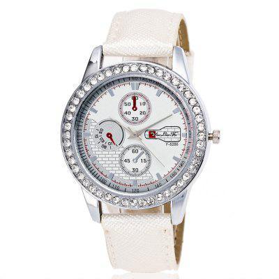 ZhouLianFa Ladies' Watch with A Motif of Crystal Grain and A Diamond Watch with A Gift Box
