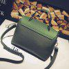 Hit Color Kelly Bag Simple Handbag Shoulder Messenger Bag Handbags - VERDE