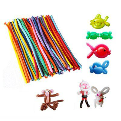 100 Pcs Lot Colors Assorted Color Magic Long Balloon Modelling Entertainer Twisting Animal Shaping Balloons
