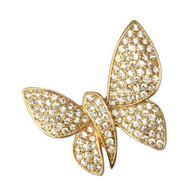 Crystal Butterfly Fashion Brooches Brouches Bigiotteria