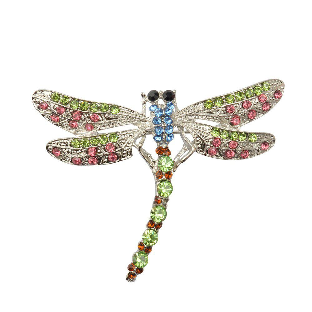 Broches de alta calidad Crystal Dragonfly para mujeres Girl Green Jewelry