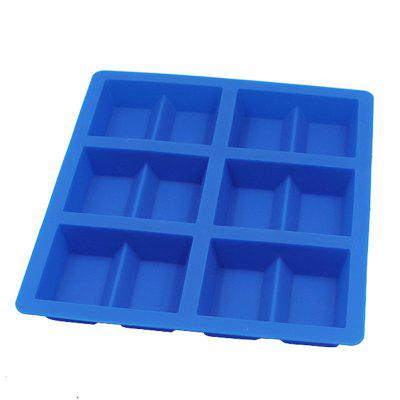 Rectangle 6 grid chocolate mold food-grade silicone 6 with ice biscuit cake model DIY baking tools