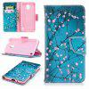 Plum Blossom Painted PU Phone Case para Nokia 2 - COLORES MEZCLADOS