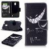 Bad Smile Painted PU Phone Case para Nokia 2 - COLORES MEZCLADOS