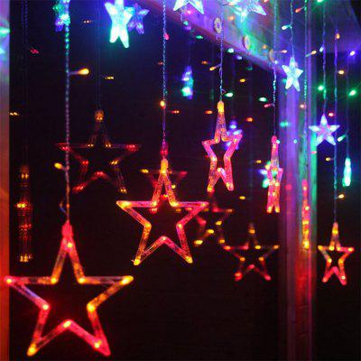 SUPli Star Curtain Lights 8 Modes With 12 Stars 138 LEDs Waterproof Linkable Curtain String Lights String LightNovelty lighting<br>SUPli Star Curtain Lights 8 Modes With 12 Stars 138 LEDs Waterproof Linkable Curtain String Lights String Light<br><br>Available Light Color: Colorful,Warm White,White<br>Color Temperature or Wavelength: 3000K 6000K RGB<br>Features: Easy to use<br>Function: Commercial Lighting, Home Lighting, Outdoor Lighting<br>Output Power: 8W<br>Package Contents: 1 X LED Star Curtain Lights<br>Package size (L x W x H): 24.00 x 23.00 x 5.00 cm / 9.45 x 9.06 x 1.97 inches<br>Package weight: 0.4500 kg<br>Product size (L x W x H): 20.00 x 19.00 x 4.00 cm / 7.87 x 7.48 x 1.57 inches<br>Product weight: 0.4000 kg<br>Sheathing Material: PVC