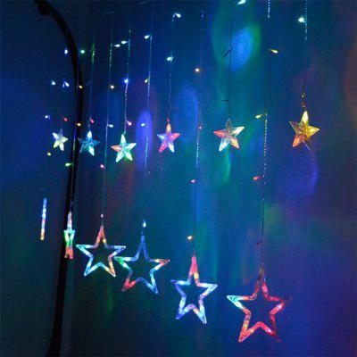 SUPli Star Curtain Lights 8 Modes With 12 Stars 138 LEDs Waterproof Linkable Curtain String Lights String Light