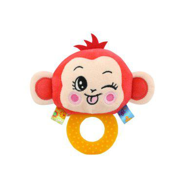 Happy Monkey Baby Hand Bell Teether Cute Animal Plush Toy