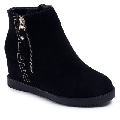 PHZX818 Winter Cashmere Warm Fashion Comfortable and Pure Color with Round Head Martin Boots