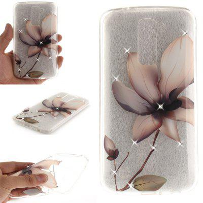 Magnolia Shining Diamond Soft Clear IMD TPU Phone Casing Mobile Smartphone Cover Shell Case for LG K10