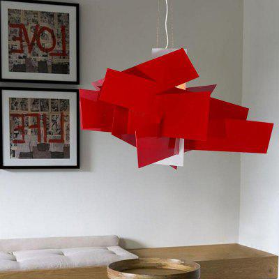 Modern Simple Red Pendant lamp Creative Style for Office Room  Living Dining Room Bedrooms