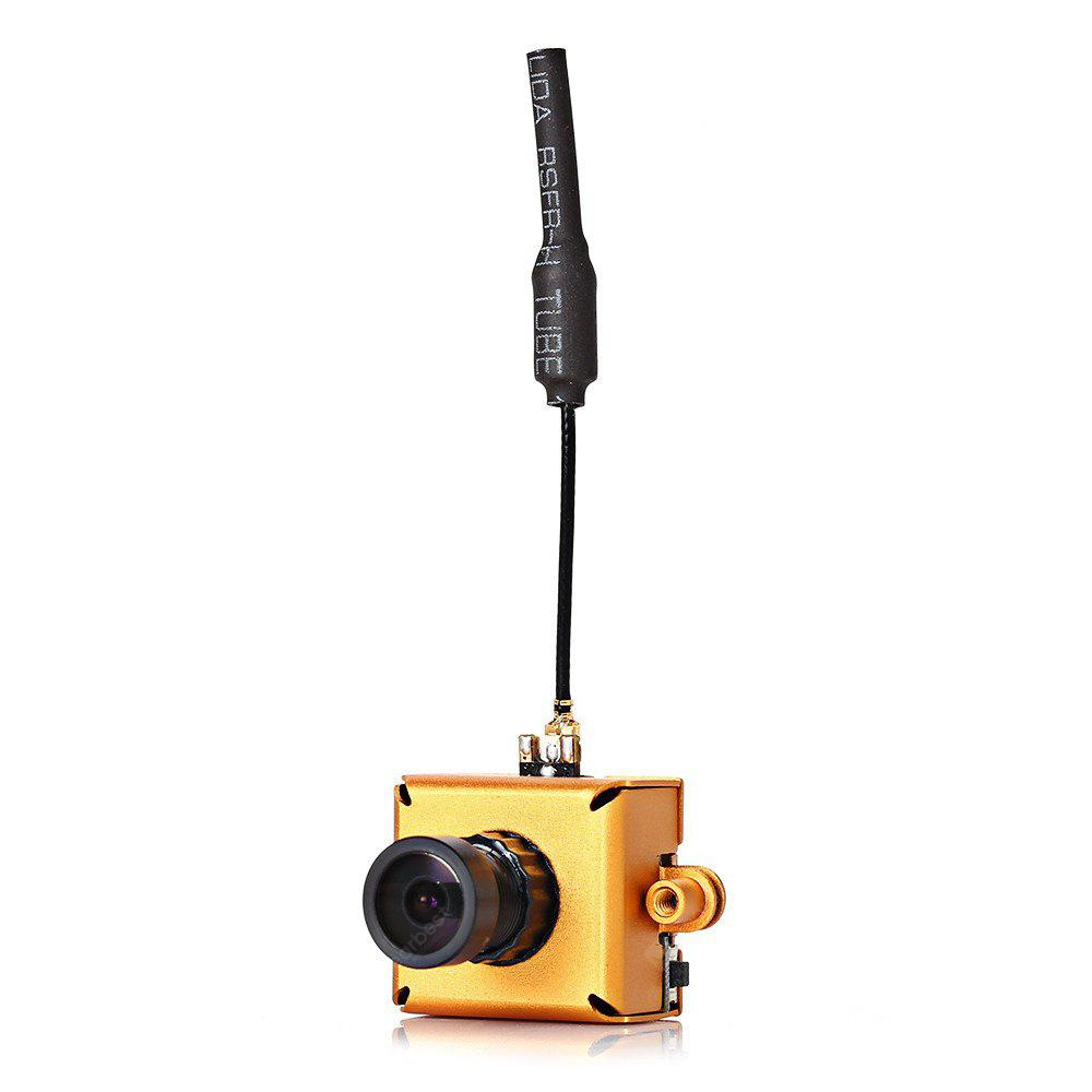 LST-S1 M8 800TVL CMOS Mini FPV Camera 5.8G 40CH 25mW VTX 3dBi Whip Antenna GOLDEN