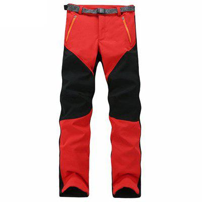 Outdoor Sport Pants Elastic Soft Shell Warm Fleece Lined Vivid Color Waterproof Trouser