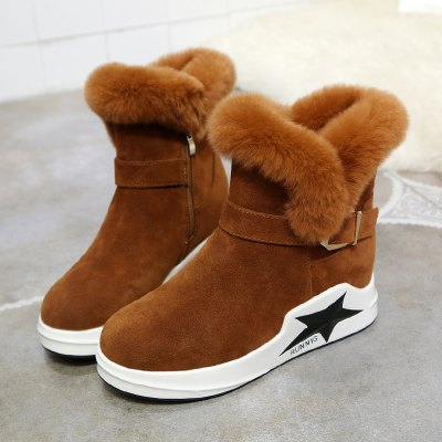 Lady Casual Trend for Fashion Star Warm Winter Suede Flat Ankle Boots ShoesWomens Boots<br>Lady Casual Trend for Fashion Star Warm Winter Suede Flat Ankle Boots Shoes<br><br>Boot Height: Ankle<br>Boot Type: Fashion Boots<br>Closure Type: Buckle Strap<br>Gender: For Women<br>Heel Type: Flat Heel<br>Package Contents: 1 x shoes pair<br>Pattern Type: Solid<br>Season: Winter<br>Toe Shape: Round Toe<br>Upper Material: Flock<br>Weight: 1.2000kg