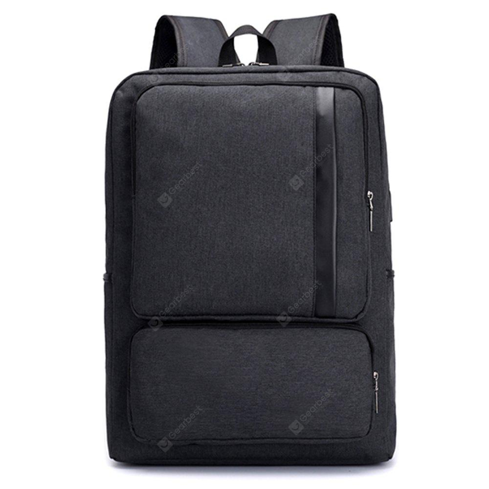 FLAMEHORSE Business Casual Lightweight Laptop Bag Fashion Simple comfortable Square Backpack