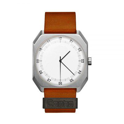 Cooho Brand New Fashion Luxury Elegant Woman Watches Simple Ultra Thin Dial Casual Male Quartz Clock Man Watch Wristwatch