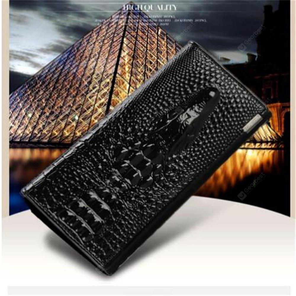 New Women Wallet Hasp Coin Purses Holders Brand Genuine Leather 3D Embossing Alligator Ladies Crocodile Long Clutch Wall BLACK