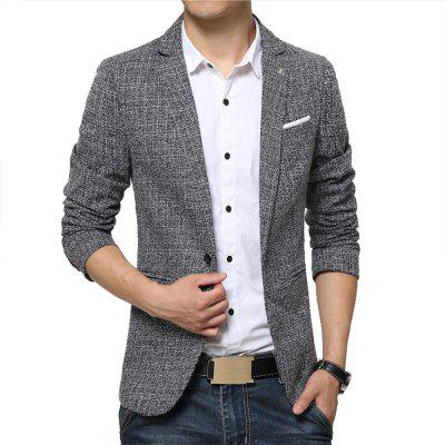 Man Suit Jacket Turn-Down Collar Fashion Casual Single-Breasted Slim New Autumn and Winter Coat