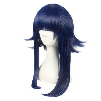 Anime Blue Color Long Straight Women Cosplay Synthetic Hair Party Wig hot sale kill la kill matoi ryuko cosplay wig dark blue mix red short japan anime hair for matoi ryuuko cos wig free shipping