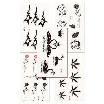 5pcs Temporary Tattoo Sticker Set Waterproof Cute Cartoon All Match AccessoryYMBY205-209