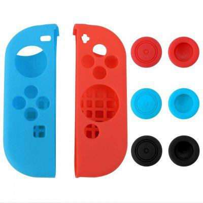 Buy Silicone Joy Con Gel Skin Case with 6pcs Thumb Stick Caps for Nintendo Switch Joy Con Controller BLUE AND RED for $5.02 in GearBest store