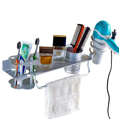 Space Aluminum Electric Blower Rack Bathroom Wall-mounted Toothbrush Shelf