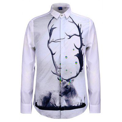 3D Personalized Printed Plum Design for Men'S Long Sleeve Shirt