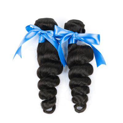2 Bundles Unprocessed Virgin Brazilian Loose Wave Human Hair Weave - Natural Black