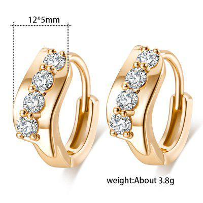 Fashion Micro Zircon Earrings ER0098Earrings<br>Fashion Micro Zircon Earrings ER0098<br><br>Earring Type: Hoop Earrings<br>Gender: For Women<br>Metal Type: Copper<br>Occasion: Party<br>Package Contents: 1x Earrings<br>Package size (L x W x H): 5.00 x 3.50 x 0.50 cm / 1.97 x 1.38 x 0.2 inches<br>Package weight: 0.0100 kg<br>Setting Type: Prong Setting<br>Shape/Pattern: Geometric<br>Stone Color: White<br>Style: Classic<br>Surface Plating: Imitation Platinum Plated