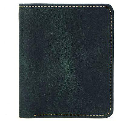 Men's Genuine Leather Bifold Business Retro Wallet