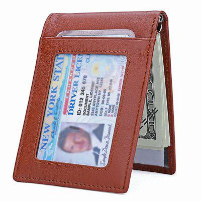 Leather Slim  RFID Front Pocket Wallet Minimalist Secure Thin Credit Card Holder