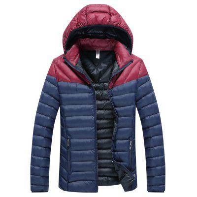 Casual Fashion Stitching Padded Jacket Coat