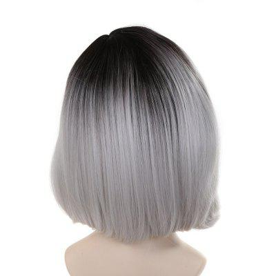 Charm Wig Simulation Fashion Gray Short Hair for Ladies