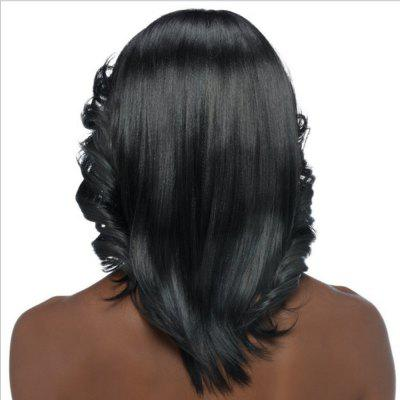 Medium Curly Synthetic Wigs For Black Women Black African American Hairpiece Female Heat Resistant Fake Hair
