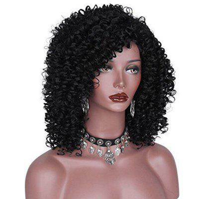 Fashion Black Curly Long Heat Resistant Wavy Brazilian Wigs For Black Women Hair 2016 hot sale heat resistant wigs wavy