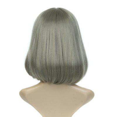 Personality Brown White Hairpiece Trendy Style Medium Curly Hair Wigs for Women Dyeable Synthetic Fake Hair