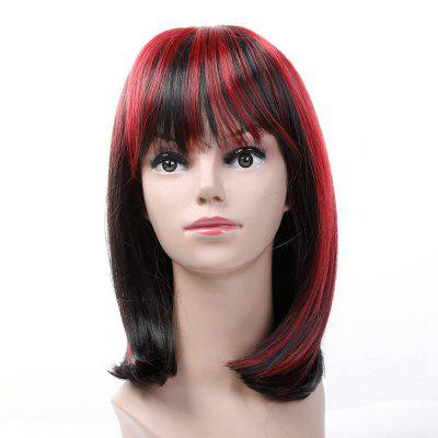 Short Straight Black Wine Red for Women Hot Dyeable Wigs Synthetic Hair Christmas Party Hairpiece 2016 new style hot sale new style synthetic wigs short straight hair wig for women glamorous fashion free shipping