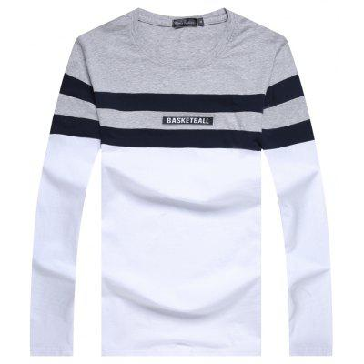 Male Spliced Long Sleeved T-Shirts