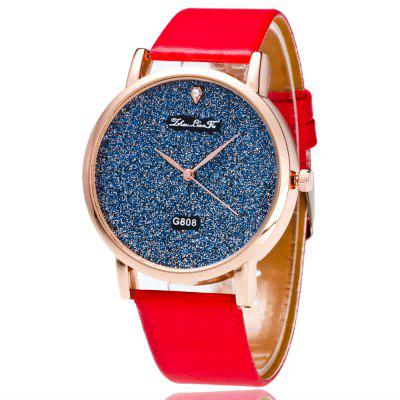 ZhouLianFa Gift Box New Smooth Leather Strap Gold Blue Business Quartz Watch