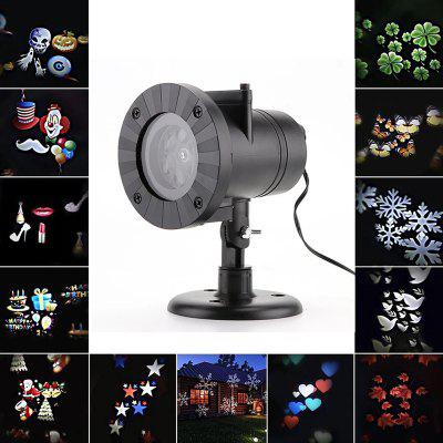 12 Patterns Outdoor Christmas Laser Snowflake Projector