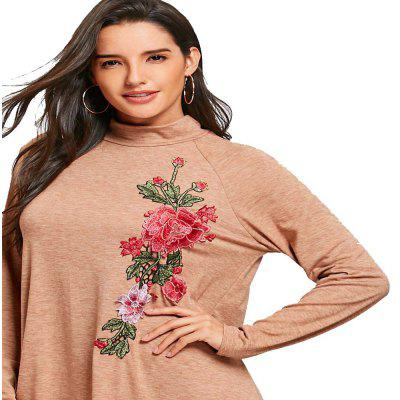 Autumn And Winter New Women Rose Embroidered Long-Sleeved Dress
