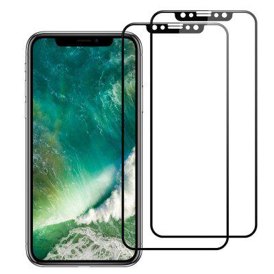 Per iPhone X Screen Protector Vetro temperato 3D Full Film di copertura con PET Soft Edge Frame HD Clear Bubble Free Screen