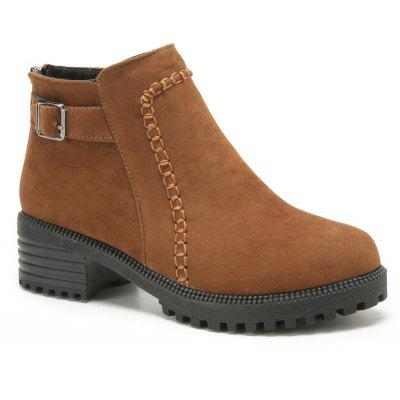 ZTA189-1 Shoes with Velvet Matte Toe Wear Sole Solid Short Tube with Chelsea Boots