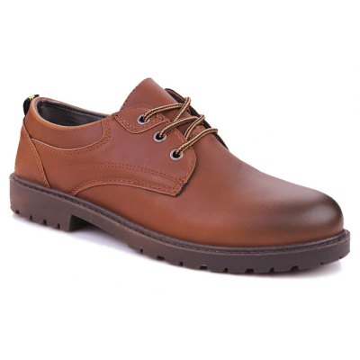 Simple Wear-resisting Men's Leisure Leather Shoes
