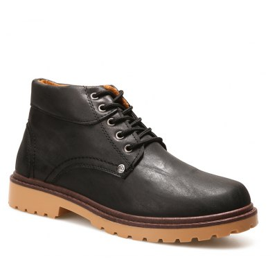 Men Stylish Lace-up Work Boots
