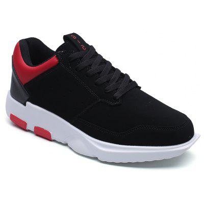 Breathable Leatherette Low-Top Athletic Shoes