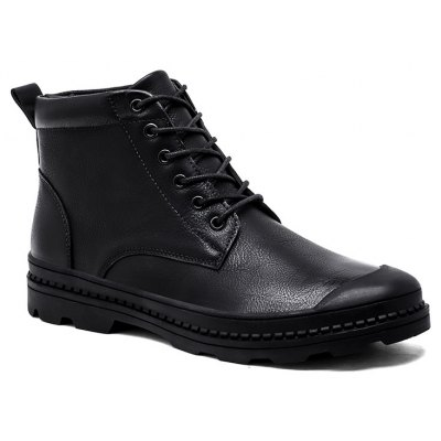 Men Trendy Casual Stitching Leather Ankle Boots