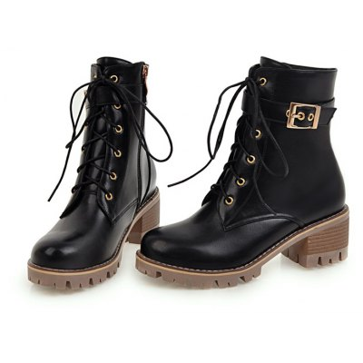 Women Shoes Lace-up ZipChunky Heel Combat BootsWomens Boots<br>Women Shoes Lace-up ZipChunky Heel Combat Boots<br><br>Boot Height: Mid-Calf<br>Boot Tube Circumference: 26<br>Boot Tube Height: 14<br>Boot Type: Motorcycle Boots<br>Closure Type: Lace-Up<br>Embellishment: Buckle<br>Gender: For Women<br>Heel Height: 5<br>Heel Height Range: Med(1.75-2.75)<br>Heel Type: Chunky Heel<br>Insole Material: PU<br>Lining Material: PU<br>Outsole Material: Rubber<br>Package Contents: 1xShoes(pair)<br>Pattern Type: Solid<br>Platform Height: 1<br>Season: Winter<br>Shoe Width: Medium(B/M)<br>Toe Shape: Round Toe<br>Upper Material: PU<br>Weight: 1.4520kg