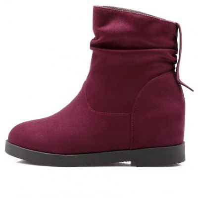 Women Shoes Height Increasing Round Toe Ankle BootsWomens Boots<br>Women Shoes Height Increasing Round Toe Ankle Boots<br><br>Boot Height: Ankle<br>Boot Tube Circumference: 26<br>Boot Tube Height: 10<br>Boot Type: Snow Boots<br>Closure Type: Slip-On<br>Embellishment: Ruched<br>Gender: For Women<br>Heel Height: 5<br>Heel Height Range: Med(1.75-2.75)<br>Heel Type: Increased Internal<br>Insole Material: PU<br>Lining Material: PU<br>Outsole Material: Rubber<br>Package Contents: 1xShoes(pair)<br>Pattern Type: Solid<br>Platform Height: 1<br>Season: Winter<br>Shoe Width: Medium(B/M)<br>Toe Shape: Round Toe<br>Upper Material: PU<br>Weight: 1.4520kg