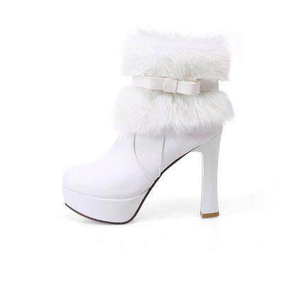 Women Shoes Round Toe Sweet Bowtie Ankle BootsWomens Boots<br>Women Shoes Round Toe Sweet Bowtie Ankle Boots<br><br>Boot Height: Ankle<br>Boot Tube Circumference: 22<br>Boot Tube Height: 11<br>Boot Type: Fashion Boots<br>Closure Type: Zip<br>Embellishment: Bow<br>Gender: For Women<br>Heel Height: 11<br>Heel Height Range: Super High(Above4)<br>Heel Type: Chunky Heel<br>Insole Material: PU<br>Lining Material: PU<br>Outsole Material: Rubber<br>Package Contents: 1xShoes(pair)<br>Pattern Type: Solid<br>Platform Height: 3<br>Season: Winter<br>Shoe Width: Medium(B/M)<br>Toe Shape: Round Toe<br>Upper Material: PU<br>Weight: 1.4520kg